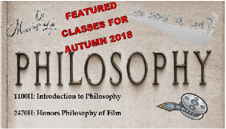 Featured Philosophy Classes for Autumn 2018