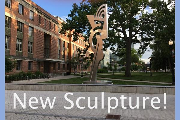 New Sculpture at Smith Lab