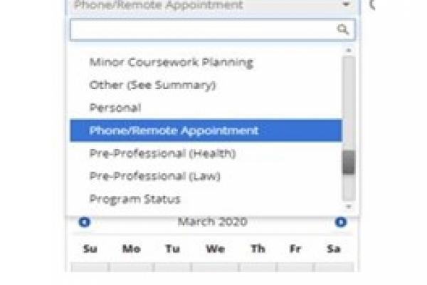 Select Phone/Remote Appointment from the Service dropdown