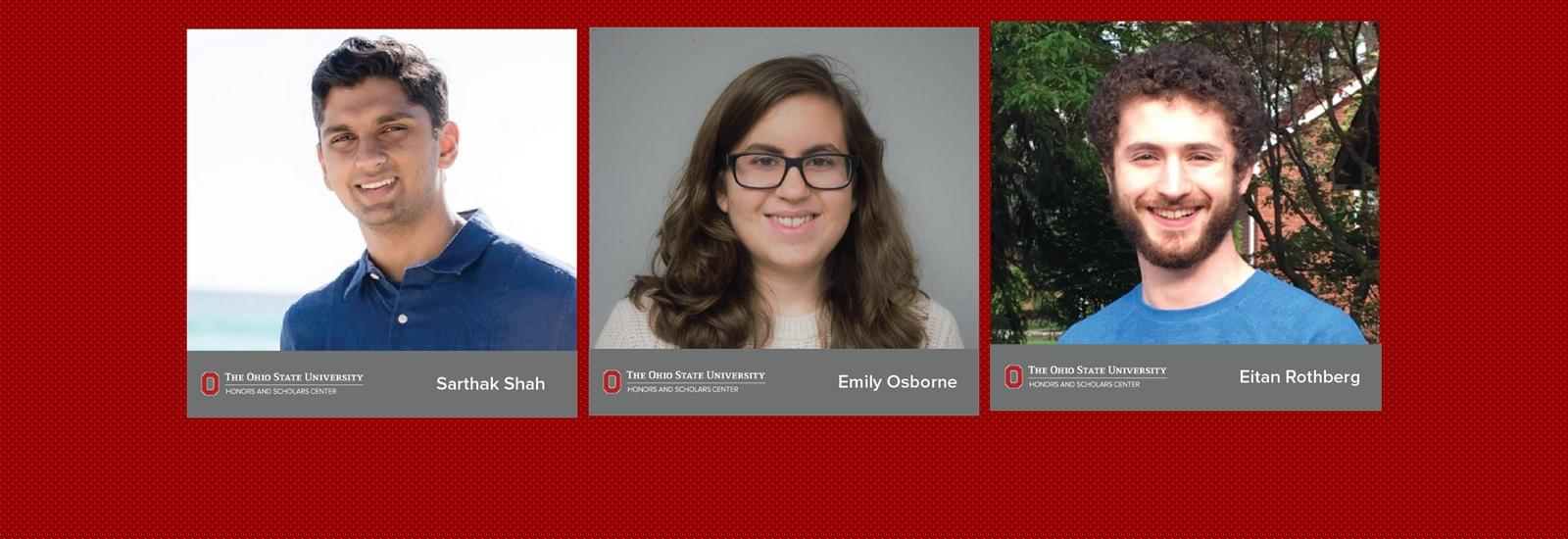 Three ASC Honors students named 2020 Goldwater Scholars